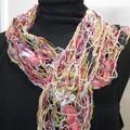 Fiona - floating fibre  scarf