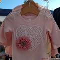 Girls Pink Sweetheart Tee - Long sleeve  Size 1, 4 & 6