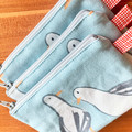 Small zipper pouch, zipper coin purse, seagull coin purse