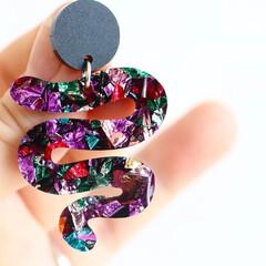 Kaleidoscope Organic Shape Earrings ✩ Rainbow Foil Acrylic Earrings
