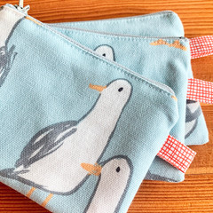 Small zipper pouch, zipper coin purse, seagull coin purse