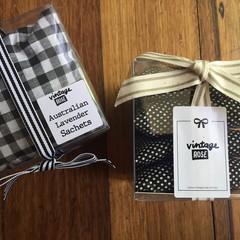 Drawer/Wardrobe Sachets Lavender - Cotton 4pk