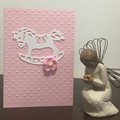 Pink baby girl Card - free postage