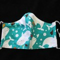 Turtle/Dolphin Fabric Face Masks Size: 7-12yrs kids