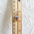 Short glass bead drop earrings , Pale blue Blue Brown mix , Art nouveau Retro