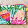 Cosmetic purse, makeup zip purse, large zip coin purse, zip bag, Kirsten Katz