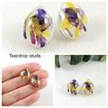 Statice flower earrings