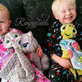 Dragon 'Ruggybud' - personalised, comforter, keepsake, lovey.