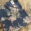 Vintage Rose Tote Bag - Pink Floral/Navy Blue