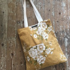 Tote Bag/Shopper Handmade - Sanderson Fabric Double Pocket