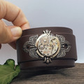 Unisex Leather Steampunk Cuffs (multiple colour options available)