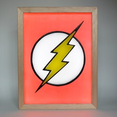 Flash Lightning Bolt Symbol Wax Painti
