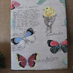 Bird and Butterfly Covered Notebook