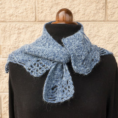 Mohair and wool shawl/scarf/collar