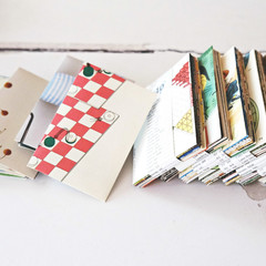 Reclaimed Envelopes Coin {20w seals} | Stationery Set | Business Card Holders