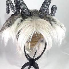 Satyr Fluffy Headband - long horn