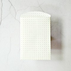 Buff Dot Paper Sachets {10} | Gridded Paper Bags Envelopes Sleeves | Notesets
