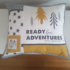 Woodland nursery cushion, decorative cushion,  baby shower gift, nursery decor,
