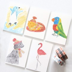 5 Mini Gift cards | Blank Gift Tags | Animals | Birthday Thank You  Baby