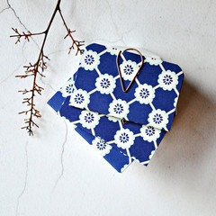 Blue Flowers Mini Books {3} | Blue Floral Books Blank | Mini Notebooks