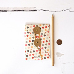 Big Button Envelopes {2w cards} Pockets Dots | Button String Tie Envelopes | Hol