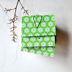 Mini Books {3} Green Floral Books Blank | Mini Notebooks | Mini Journals | Green