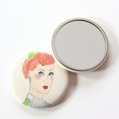 Pocket Mirror, Illustrated Pocket Mirror, Gift For Her, Junior Artist