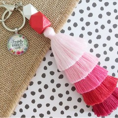 Fearfully and wonderfully made - Tassel keyring/bag tag