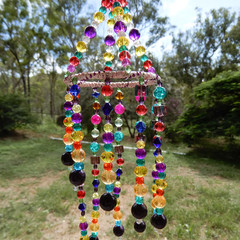 Multi Coloured Spiral Suncatcher