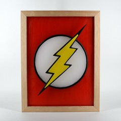 Flash Lightning Bolt Emblem Logo Symbol Justice league DC Comic Movie Wax Painti