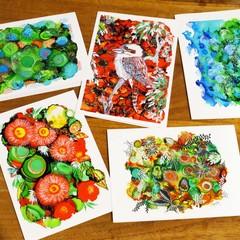 Art Print Greeting Cards Set 2