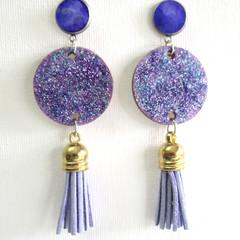 Resin  Drop Tassel Earrings ...Always Beautiful Day or Night
