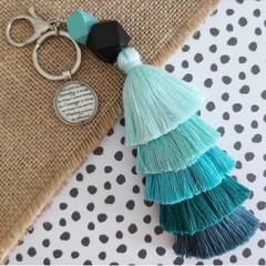 God grant me the serenity - Tassel keyring/bag tag