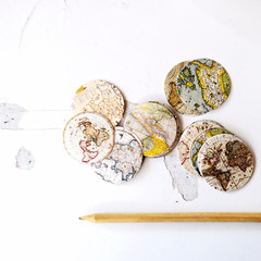 Map Envelope Seals {45} Vintage Map Seals | Travel Theme Party | Decor for Bon V