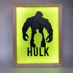 THE INCREDIBLE HULK  wax painting led light box
