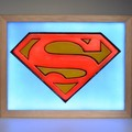 Superman Man of Steel 3D Symbol Wax Sculpture led light box