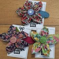 Flower Hair Clip with Button