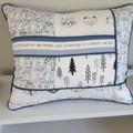 Woodland nursery cushion, decorative cushion,  baby shower gift, nursery decor,