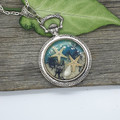 Under the Sea - resin pocketwatch style necklace