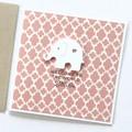 Handmade Baby Girl Card, Newborn Baby Girl Card, Baby Card, Elephant Baby card