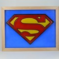 Superman Man of Steel 3D Symbol Wax Sculpture led light box