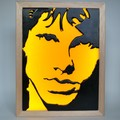The Doors JIm Morrison Wax Painting Led Light Box