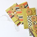 Button Envelopes {6} Autumn Orange Green Brown | Luxe Coin Money Envelopes | Tea