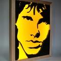 The Doors JIm Morrison Wax Painting Led Light Box