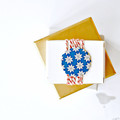 Blue Scalloped Gift Seals {10} Blue Star Stickers | Japanese Stickers Seals | Ci