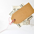 Knitted Tags {10} L double layer   Embossed Kraft Tags   Knit Pattern Tags