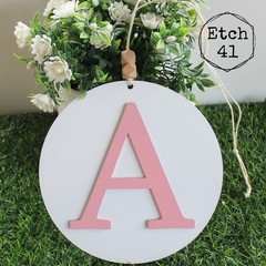 Personalised Hanging Painted Letter Plaque