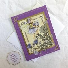 'Chicory Fairy' Purple Birthday Card