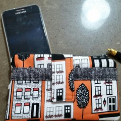 Orange house phone purse