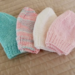 *Special * 4 beanies: (1-3yrs): Washable, girl, winter, soft